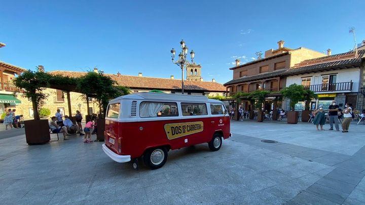 'La madrineta', en la plaza de Manzanares El Real