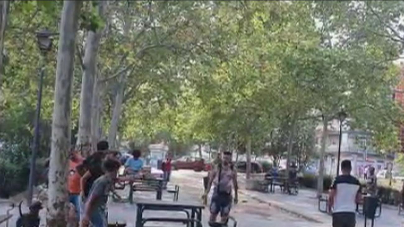 Peleas, consumo de alcohol y drogas en el parque Amós de Vallecas