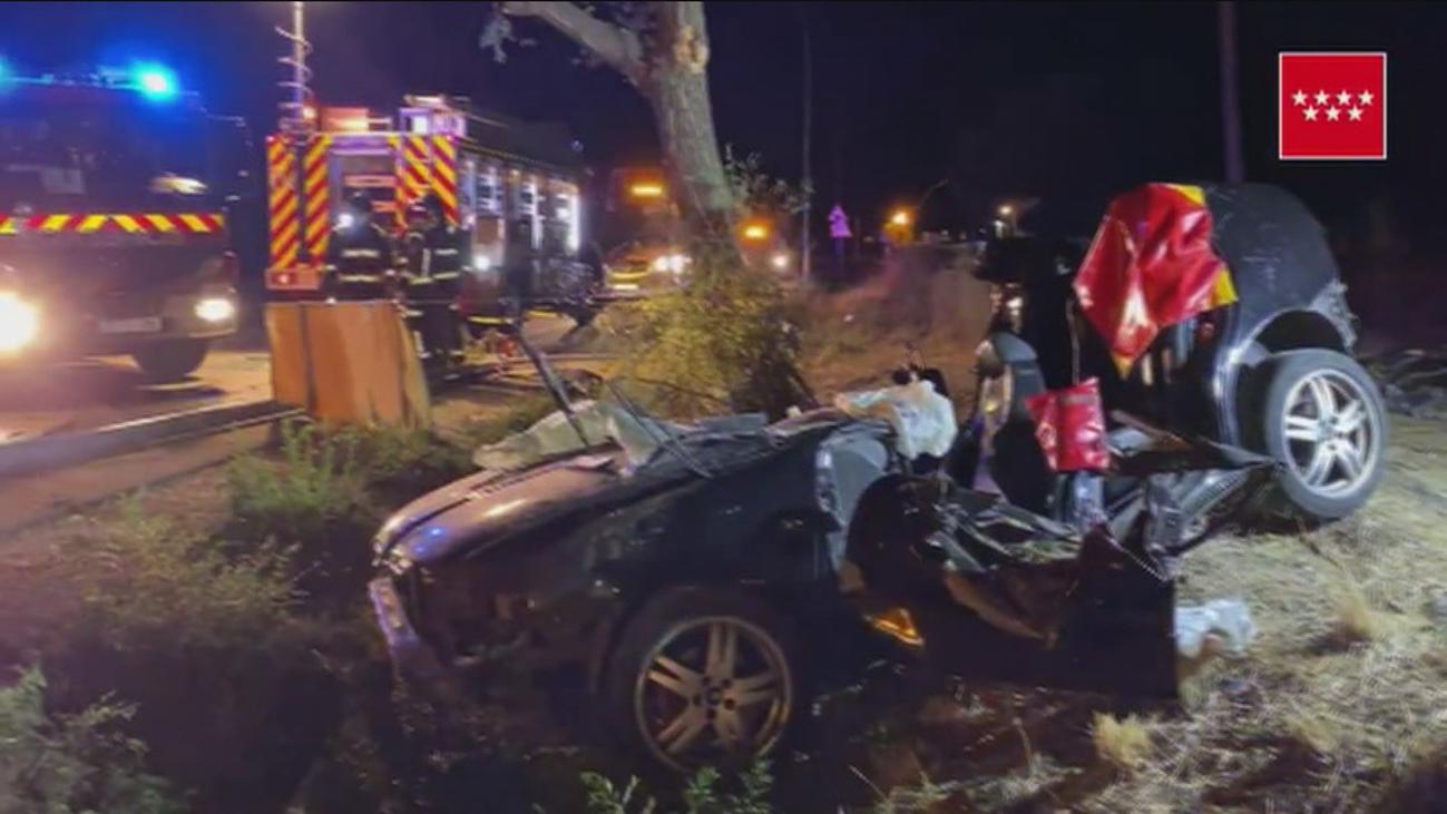 La Guardia Civil busca a los dos ocupantes  que se fugaron tras un accidente con tres muertos en Móstoles