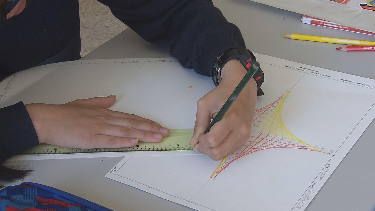 Un alumno en un colegio de Educación Especial en Madrid