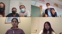 Comprobamos cómo sería una clase online con niños de diferentes edades