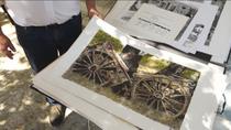 El artista de la pluma china en Cabanillas de la Sierra