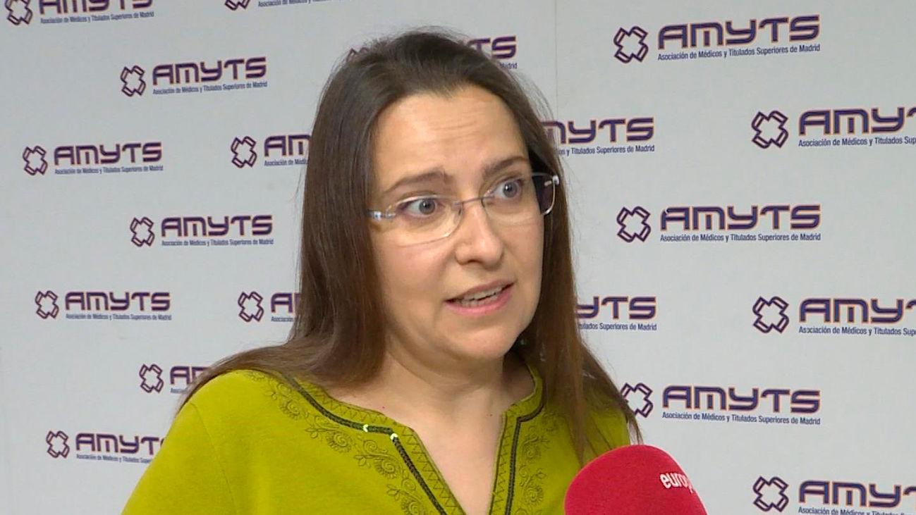 Ángela Hernández, vicesecretaria general deAsociación de Médicos y Titulados Superiores de Madrid (AMYTS)