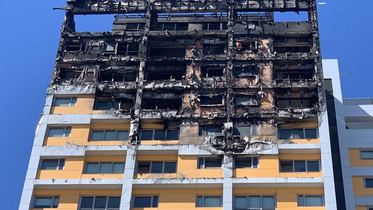 Ocho viviendas afectadas en un incendio de un edificio de Pinar de Chamartín