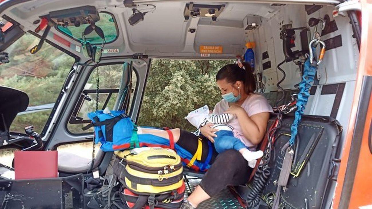 Rescatada por el GERA una mujer en la Pedriza tras torcerse el tobillo