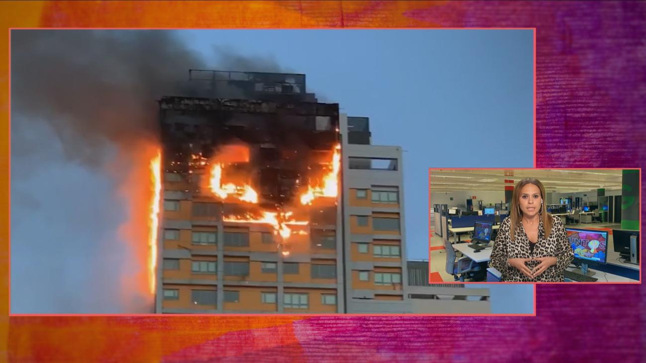"""El incendio en Chamartín, en primera persona: """"Miré por la ventana y era todo fuego"""""""