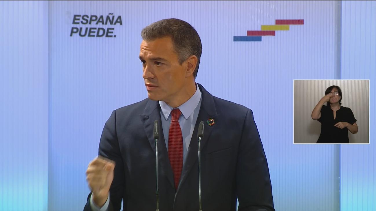 """Sánchez llama a la unidad: """"Nadie tiene derecho a no arrimar el hombro por su ideología distinta"""""""