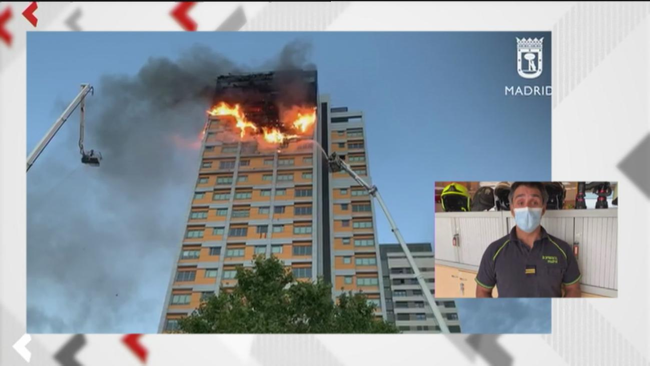 """""""Las escaleras eran protegidas  y muy seguras para la evacuación"""", señalan los bomberos sobre el incendio de Chamartín"""