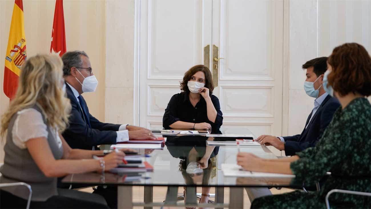 Reunión de Más Madrid con la presidenta y el consejero de Educación