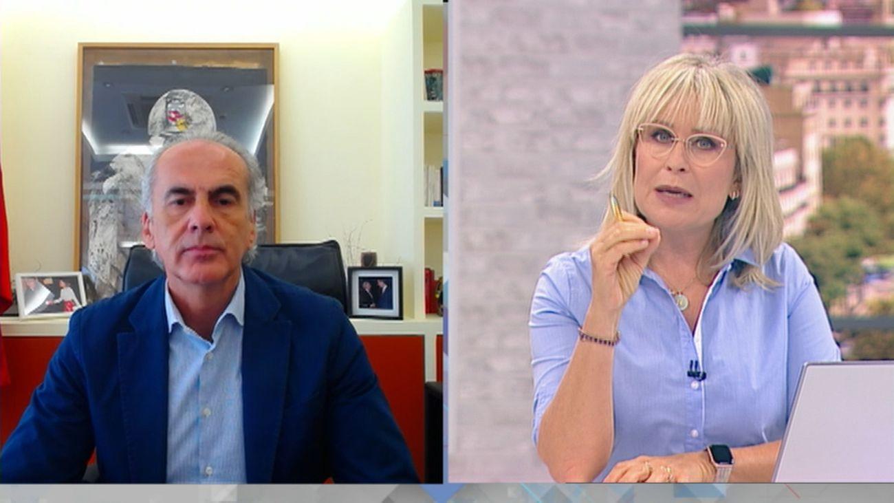 El consejero de Sanidad, Enrique Ruiz Escudero, en entrevista en 120 Minutos