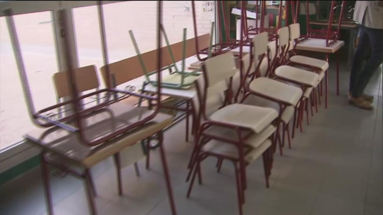 Los colegios, en pleno proceso 'de mudanza' para habilitar aulas extra