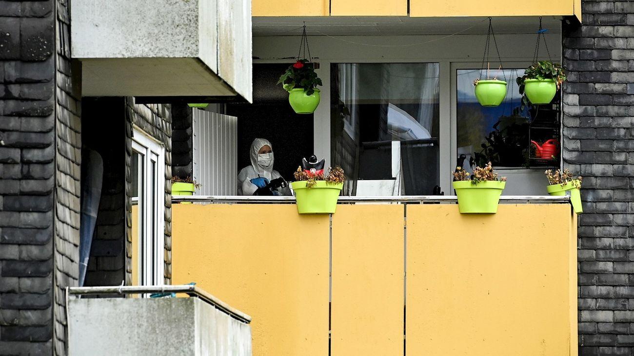 Vivienda donde fueron encontrados los cuerpos de  los niños