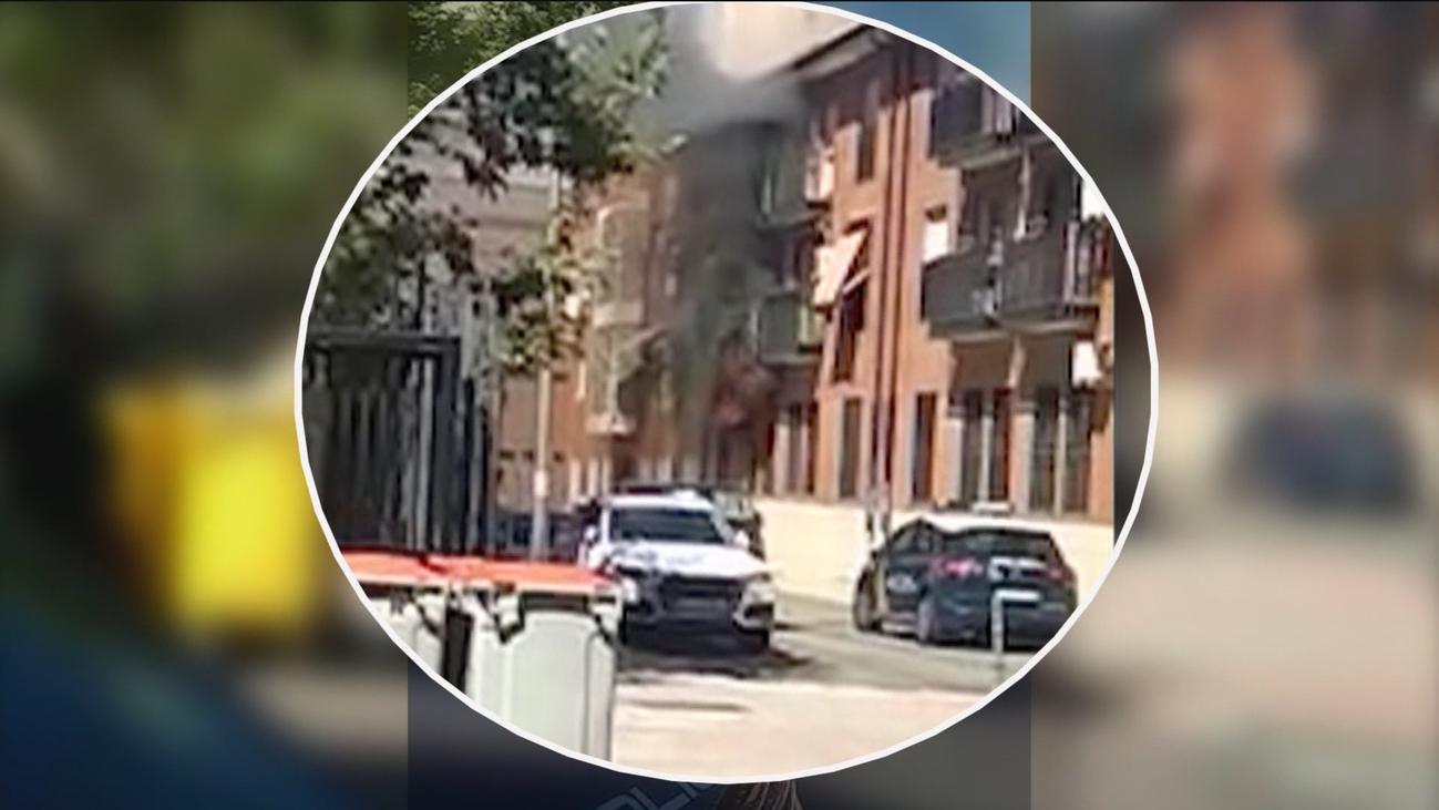 Arde una casa okupada en Plaza de Castilla