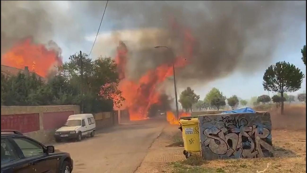 El incendio en Eurovillas, ¿provocado por los okupas?