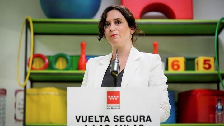 """Ayuso acusa al Gobierno central de querer """"desestabilizar"""" Madrid"""