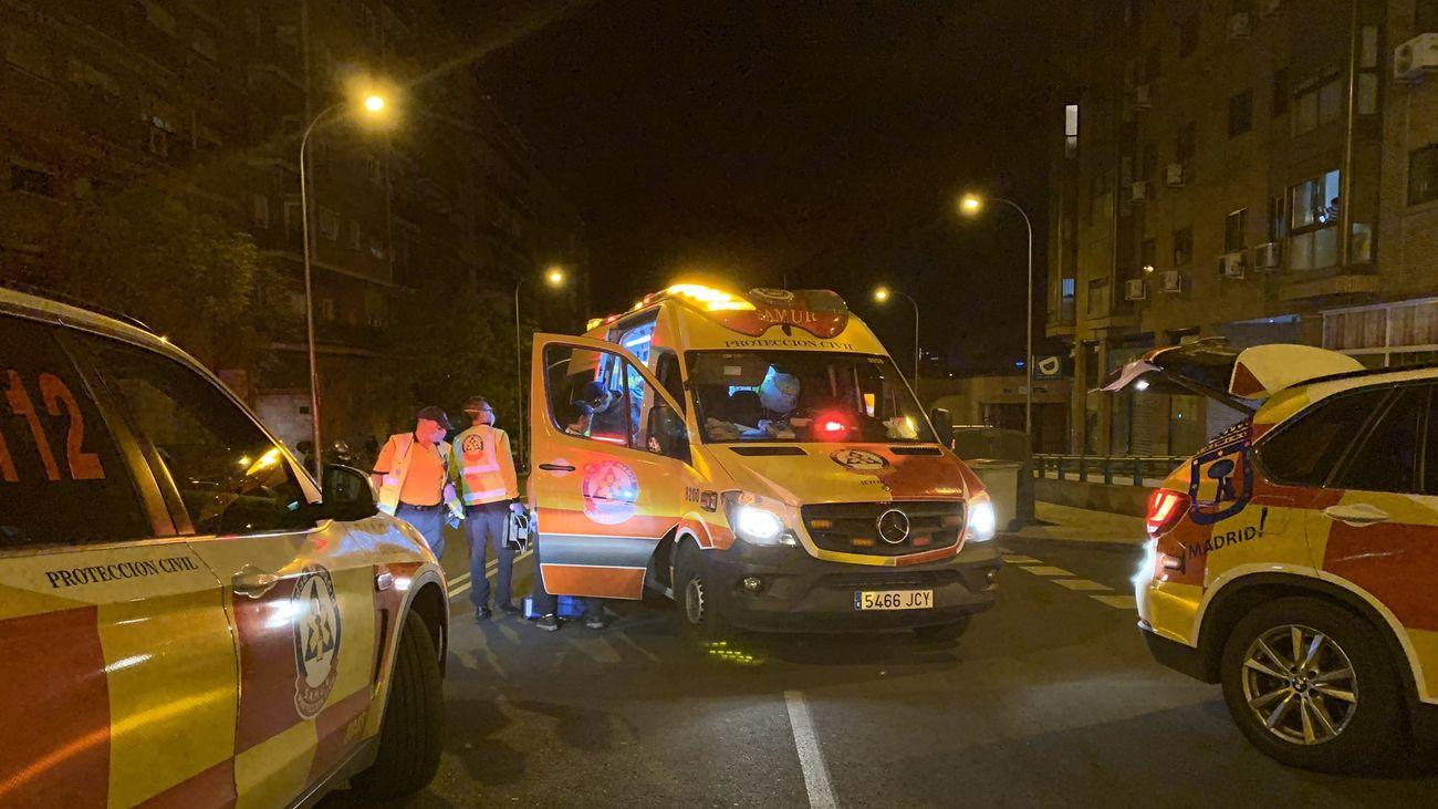 Atropello de un ciclista en Arganzuela