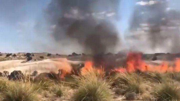 Controlado un incendio de pastos declarado en Villarejo de Salvanés este domingo