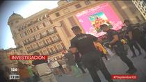 Telemadrid se infiltra en la manifestación de los negacionistas de Callao