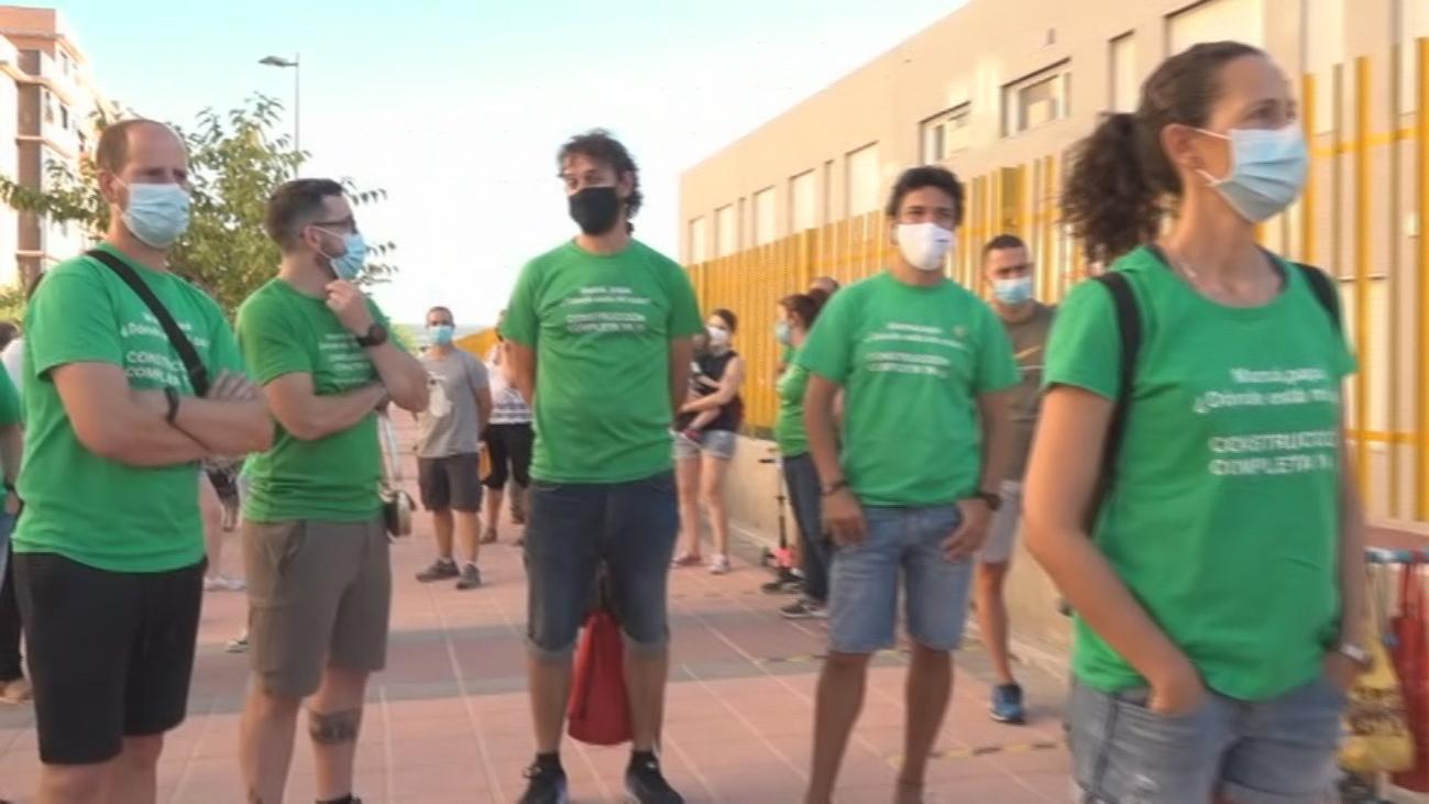 Protestan contra el cierre de un colegio en Getafe