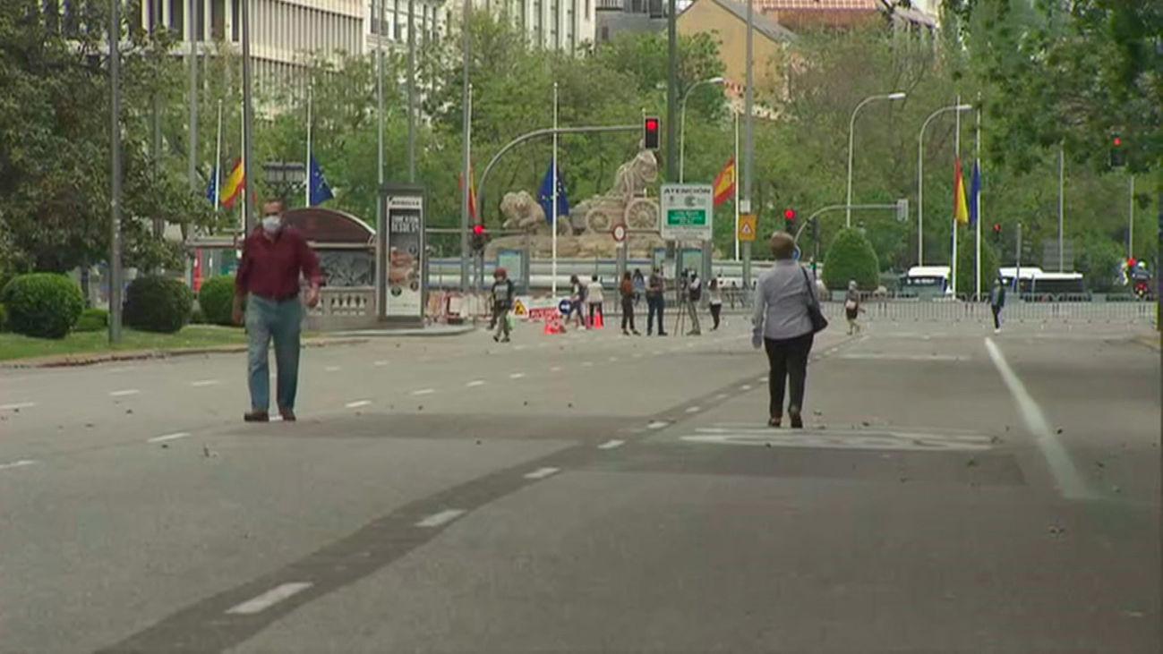 El Paseo del Prado, uno de los tramos peatonales a partir del sábado