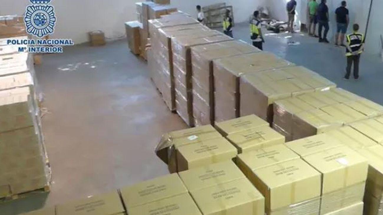 Los palés robados con productos sanitarios