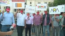 La hostelería se concentra en Cibeles para reclamar  apoyo institucional y que se les deje de culpabilizar