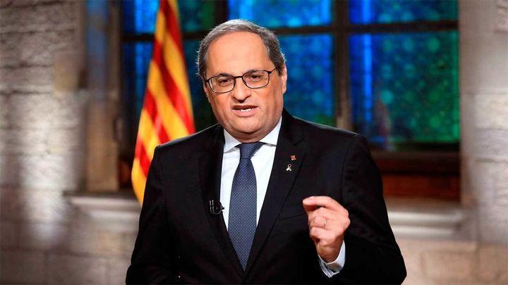 Torra insiste en la independencia e insta al Rey y a Sánchez a disculparse por fusilamiento de Companys