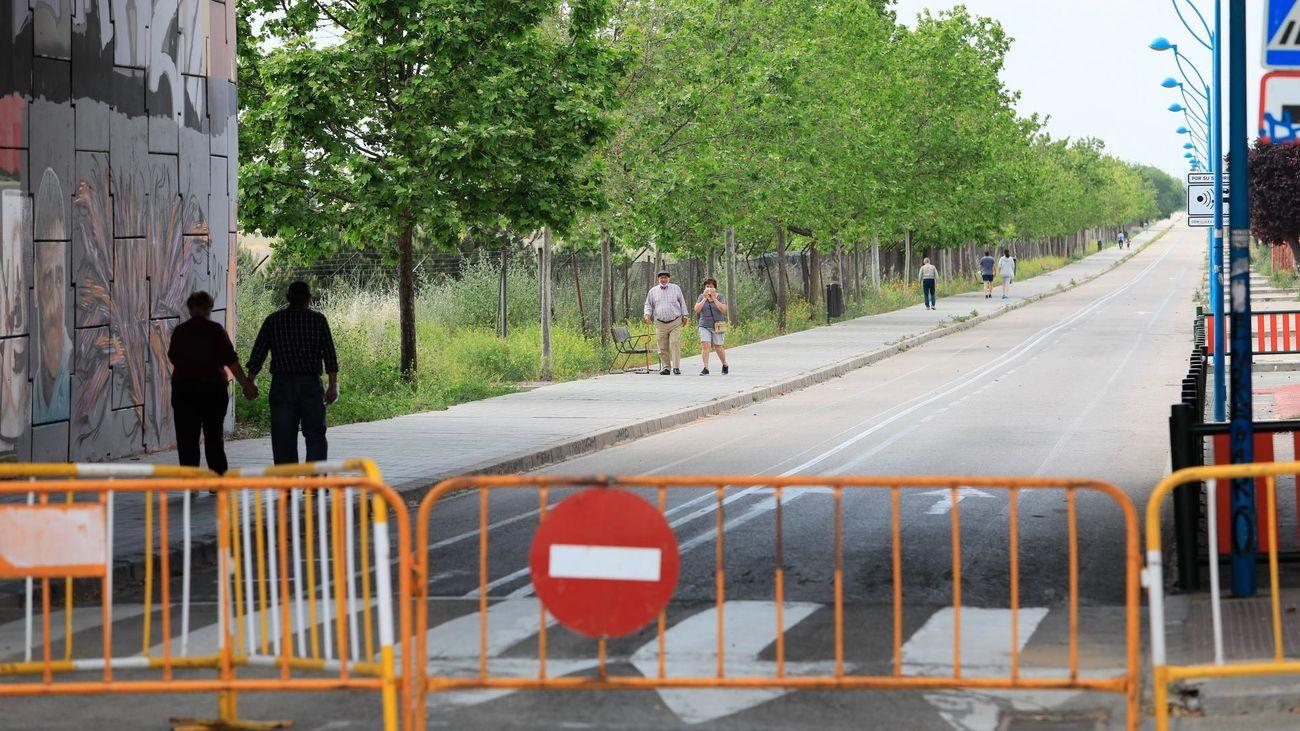 Calle peatonalizada en Getafe