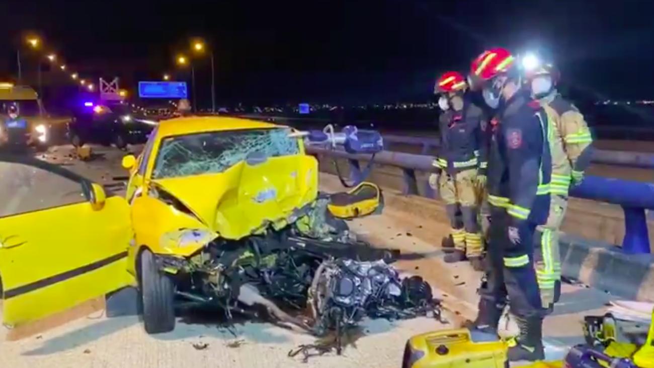 Muere un hombre al ser arrollado su coche por otro vehículo mientras esperaba la grúa en Leganés