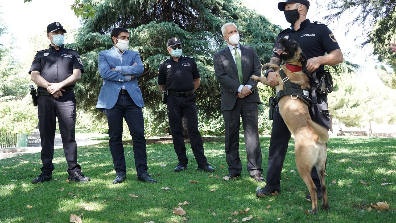 Presentación de la unidad canina de San Sebastián de los Reyes