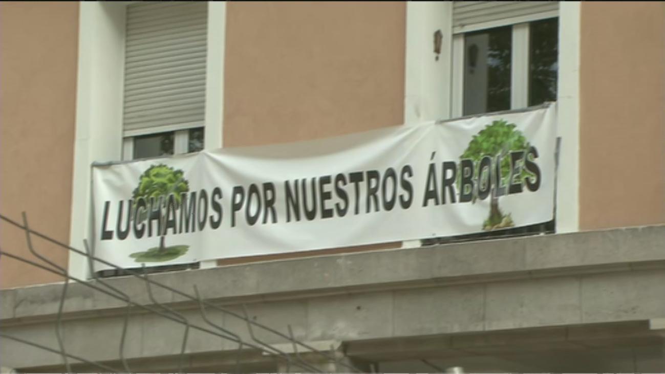 Vecinos de Retiro protestan por la tala de árboles en la plaza del Niño Jesús