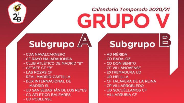 Este es el calendario de los equipos madrileños de Segunda B
