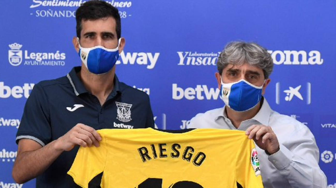 """El Leganés presenta a Asier Riesgo: """"Nos va a tocar sudar mucho"""""""