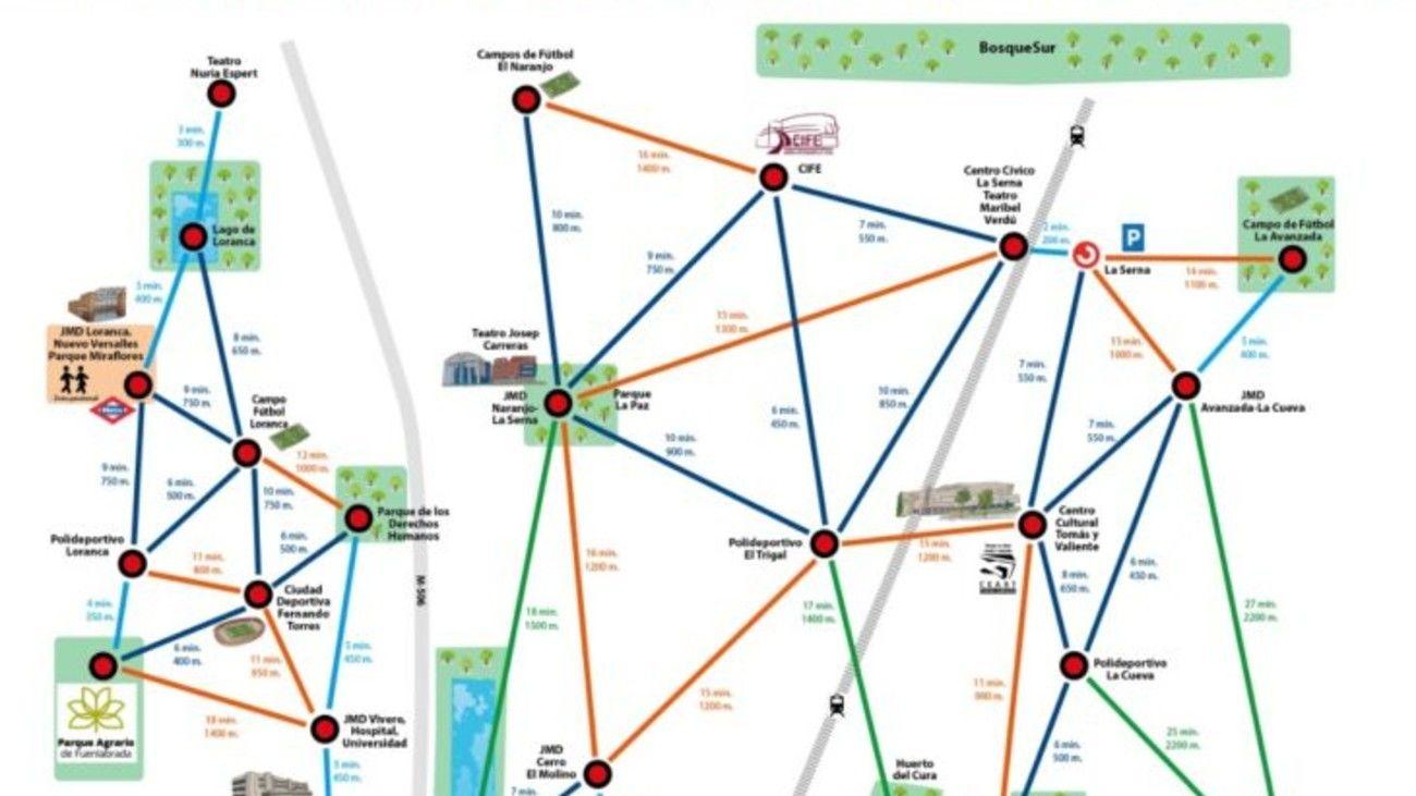 Mapa Metrominuto de Fuenlabrada