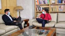 Rufián se reúne por separado con Iglesias y Calvo para hablar de Presupuestos