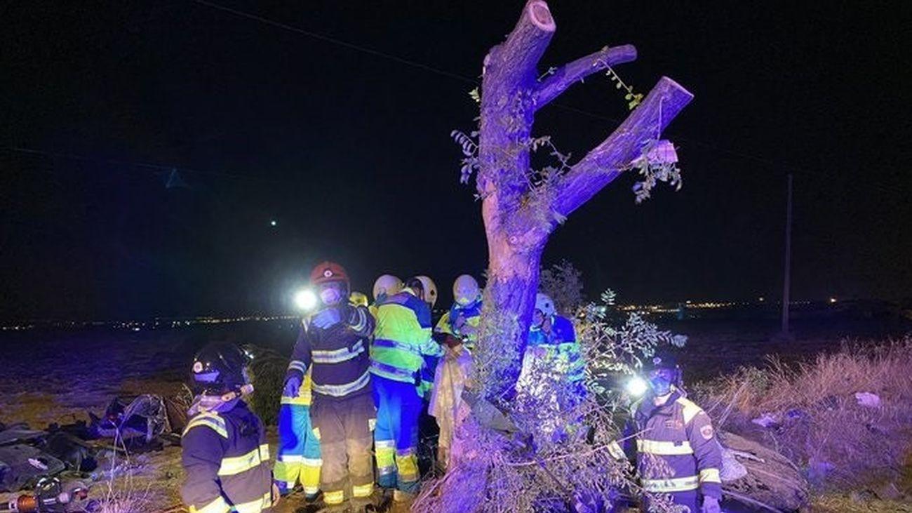 Lugar del accidente en el que murieron tres personas en Móstoles