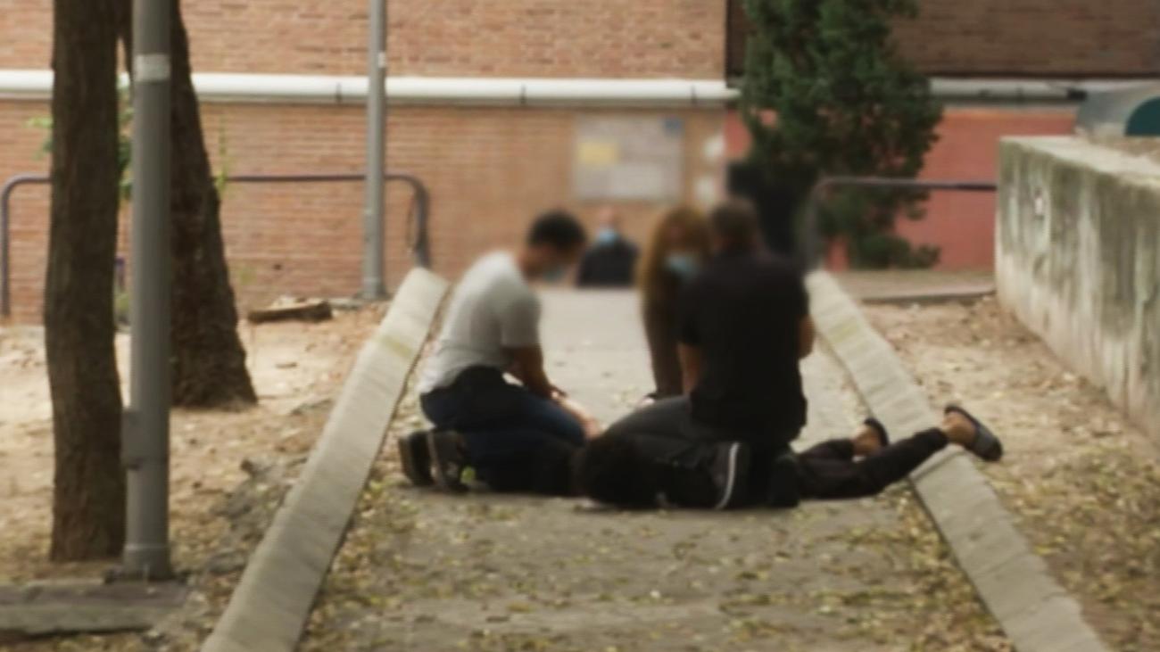 Un equipo de 'Está Pasando' ha sido testigo de la detención de los autores del apuñalamiento en Moncloa