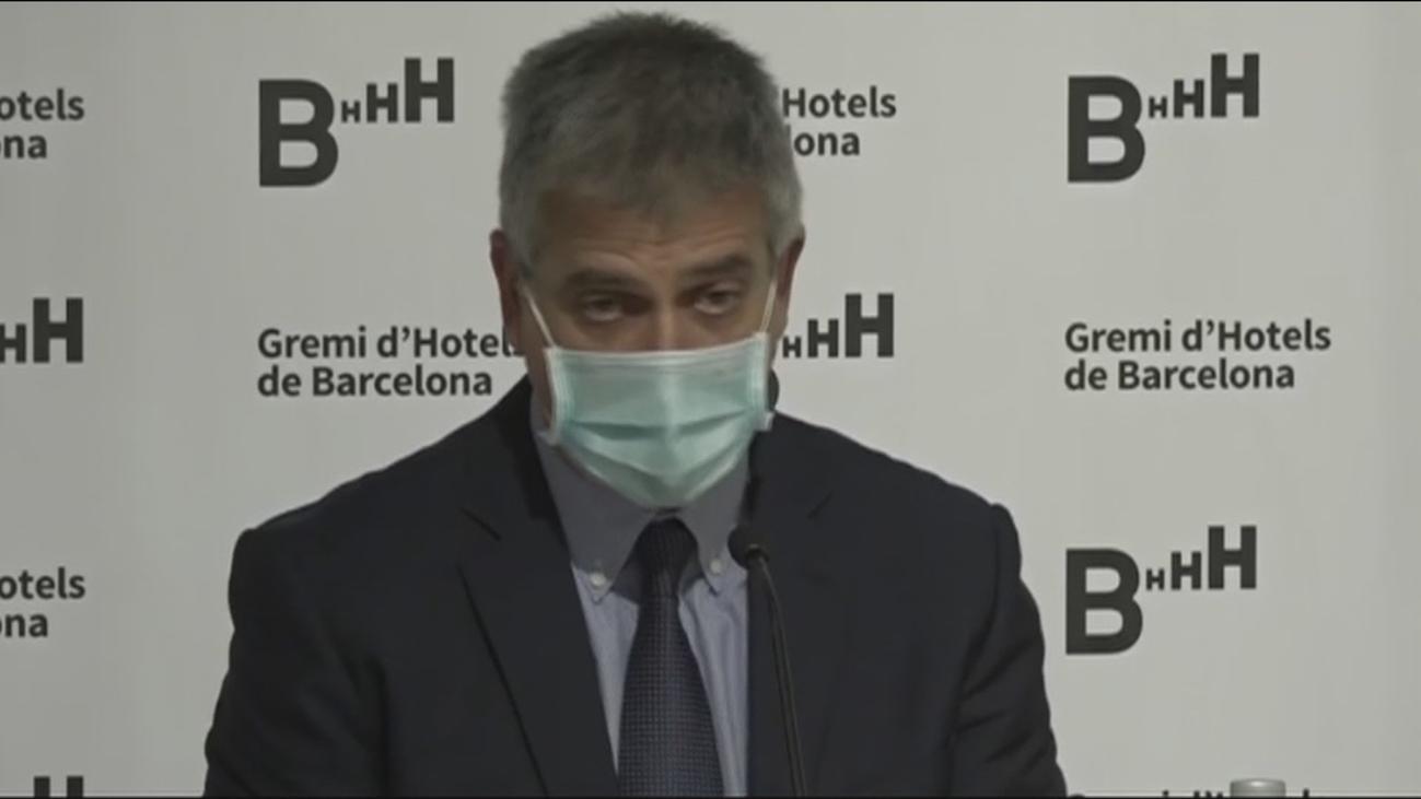 Desplome de la ocupación de los hoteles  de Barcelona con menos del 10%