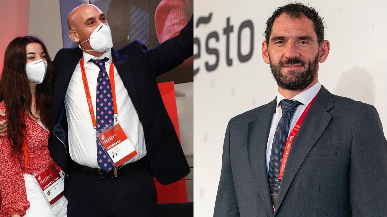 Luis Rubiales y Jorge Garbajosa
