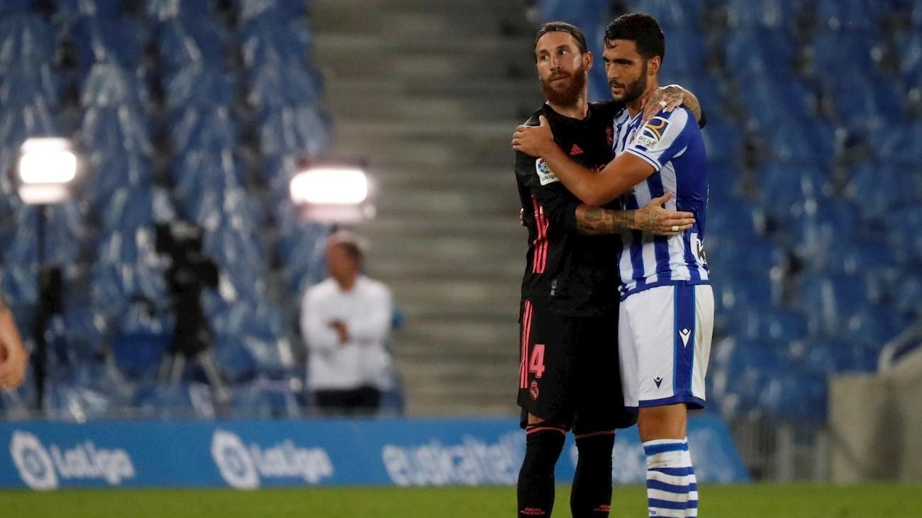 Sergio Ramos ante la Real Sociedad