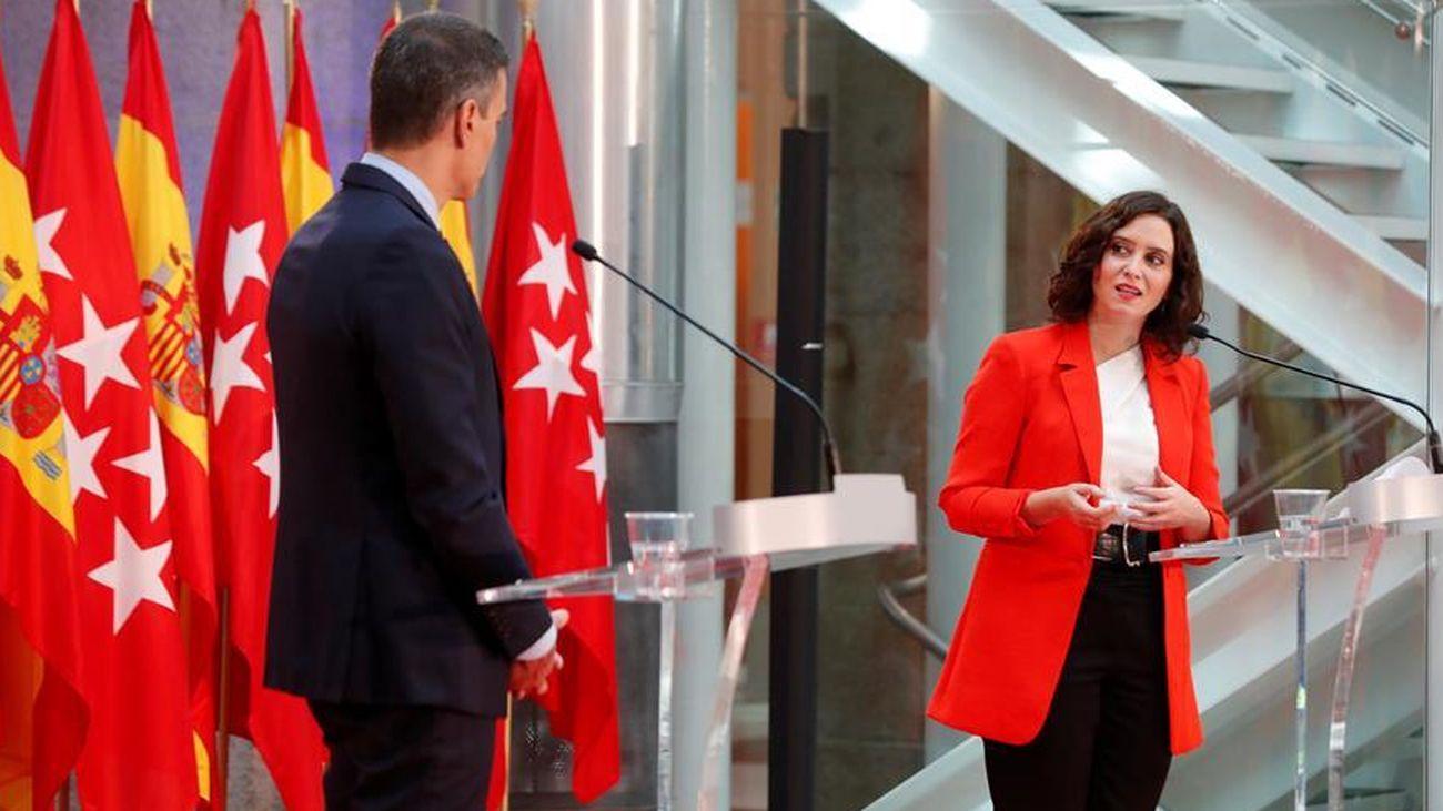 Pedro Sánchez e Isabel Díaz Ayuso