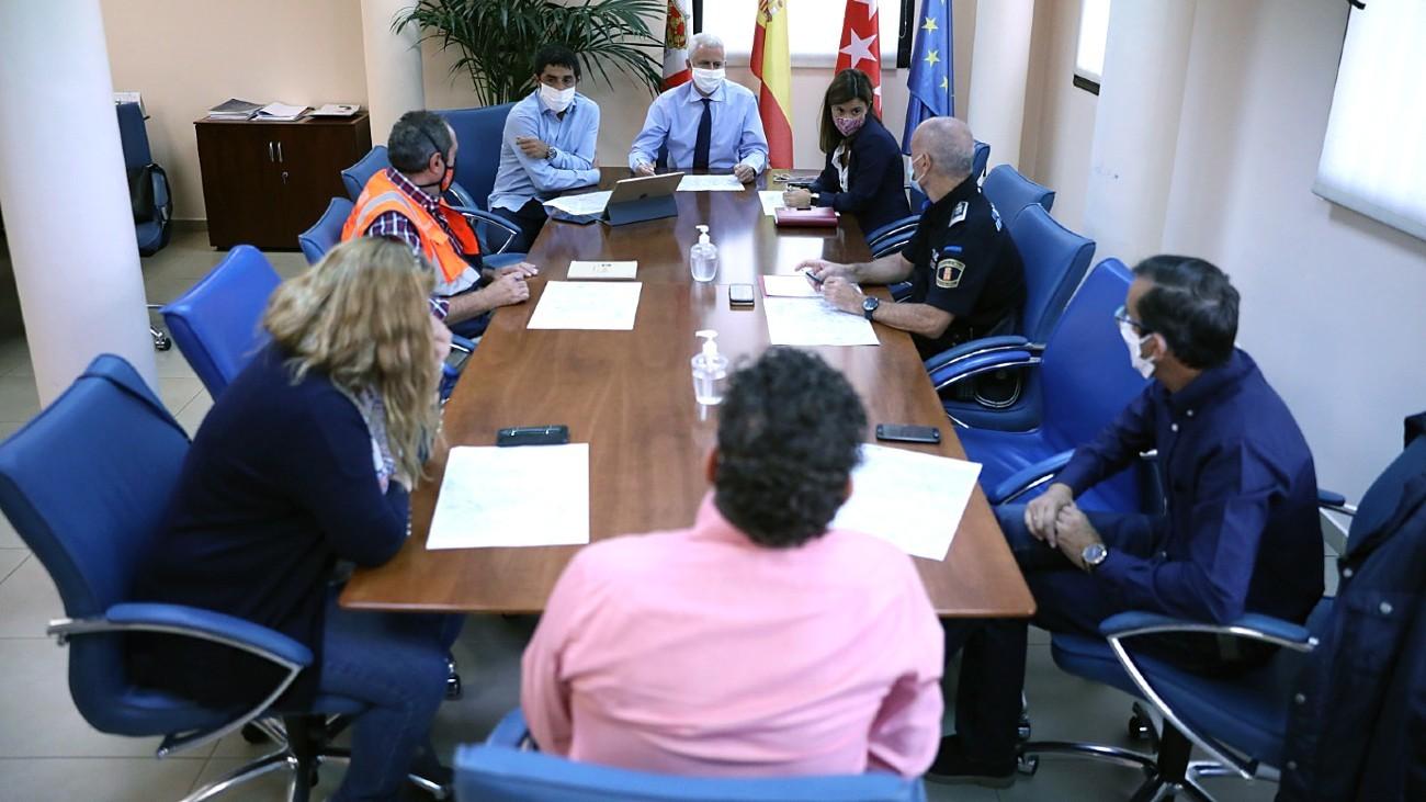 Reunión en el Ayuntamiento de San Sebastián de los Reyes