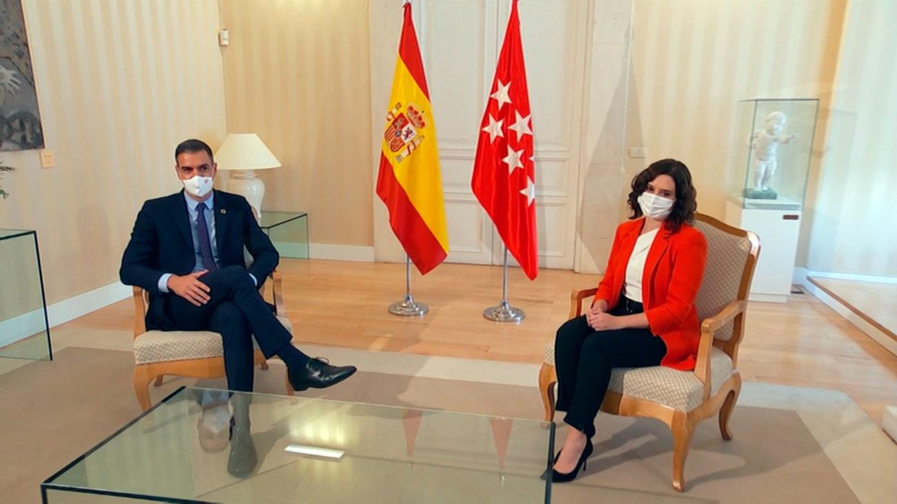 Reunión en Sol entre Pedro Sánchez e Isabel Díaz Ayuso
