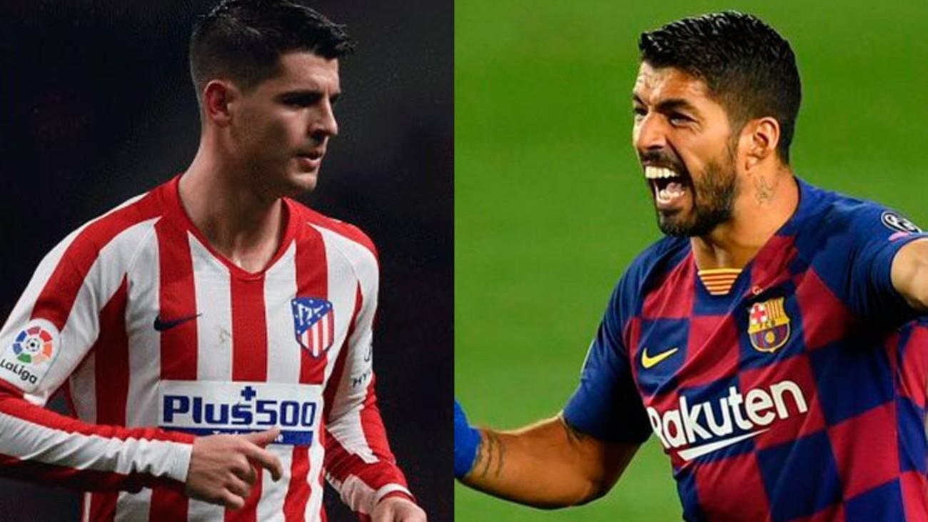 Morata y Luis Suárez
