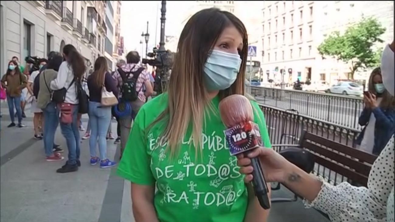 """Primer día de huelga educativa en Madrid: """"Es la única salida que nos ha dejado la Comunidad de Madrid"""""""