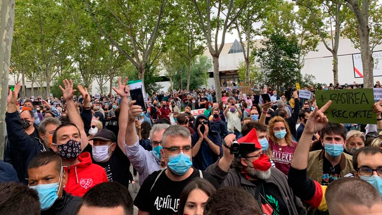 Podemos y Mas Madrid reivindican las protestas contra Ayuso
