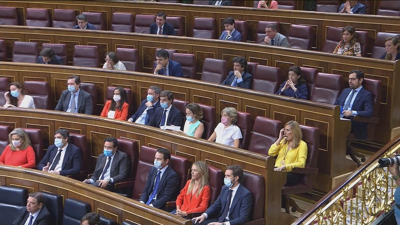 Podemos y otros grupos piden más restricciones de aforo en el Congreso de los Diputados