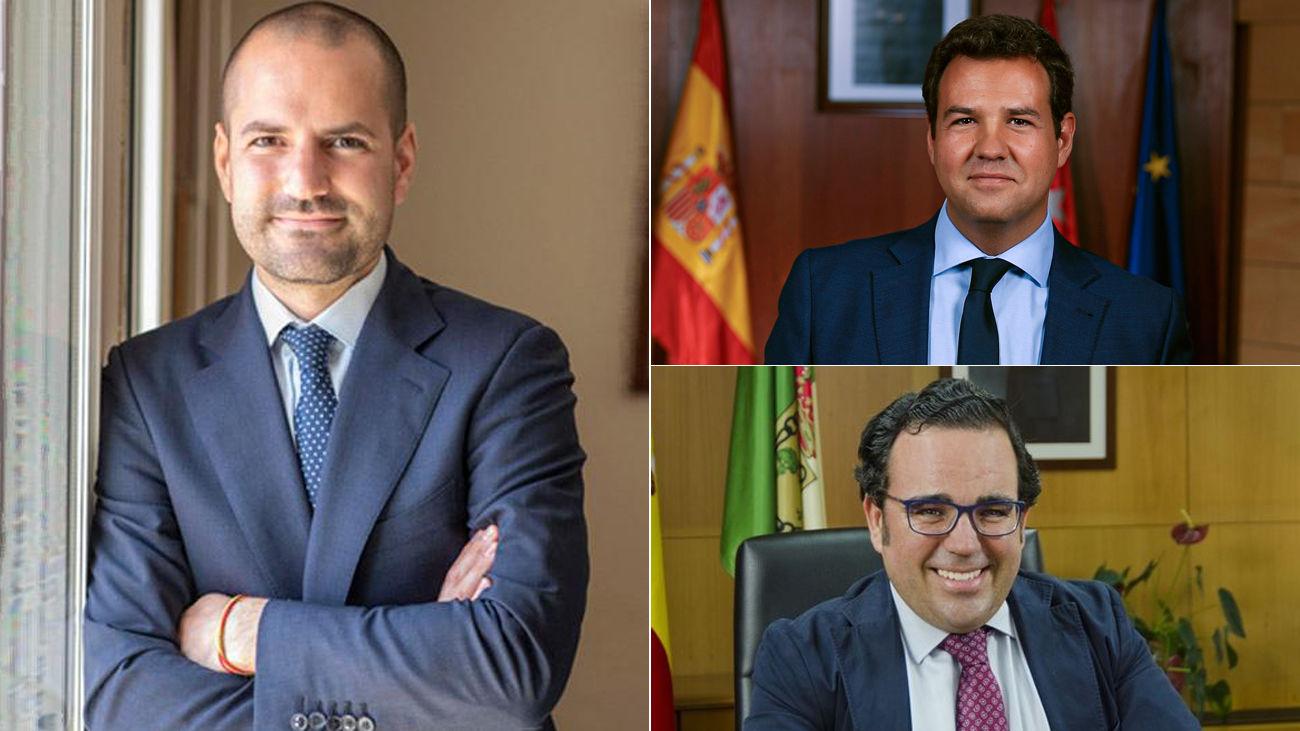 El confinamiento en sus domicilios no paraliza el trabajo de varios alcaldes de Madrid