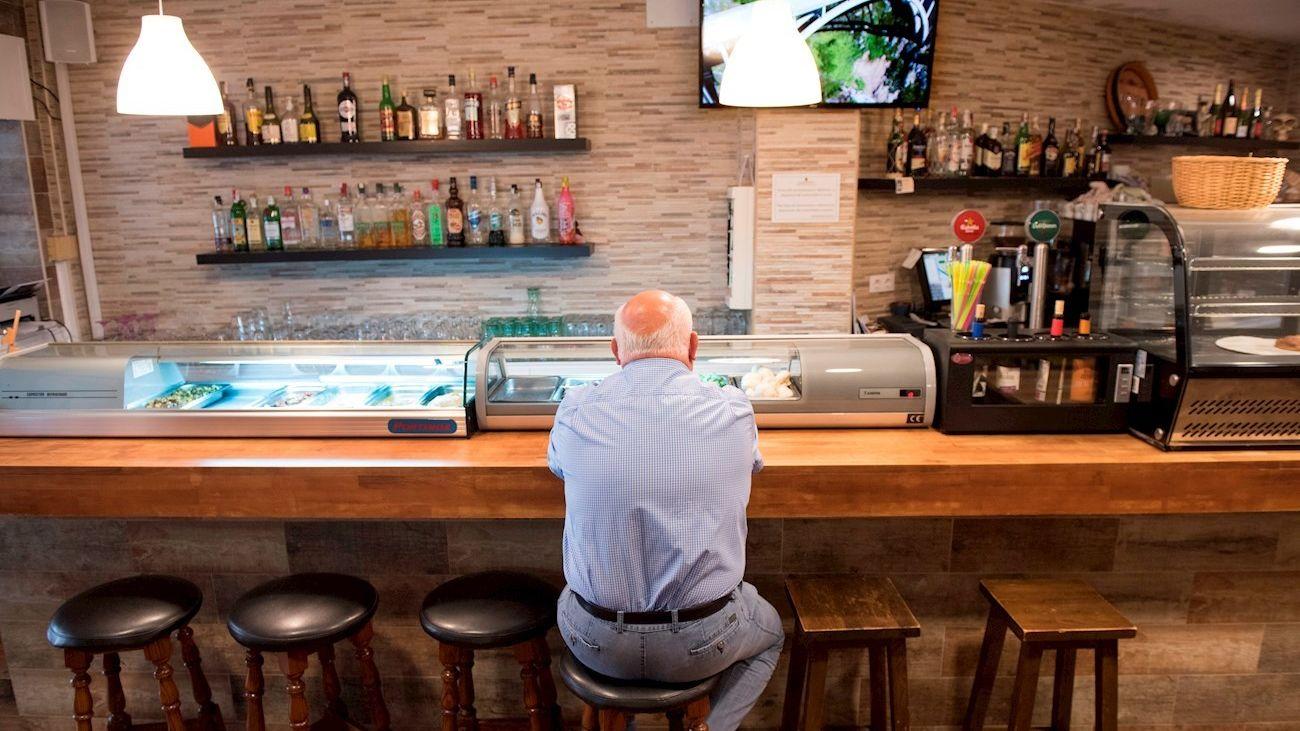 Interior de un bar en Madrid