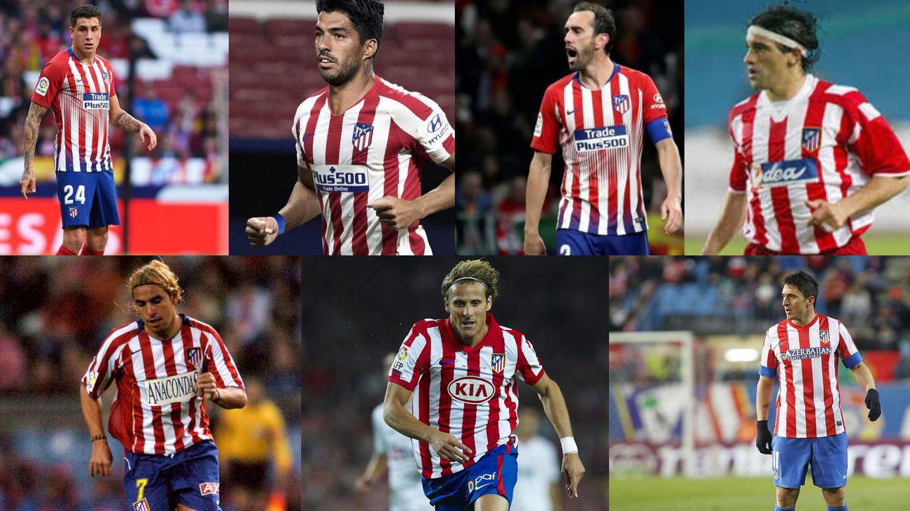 Jugadores uruguayos en el Atlético de Madrid